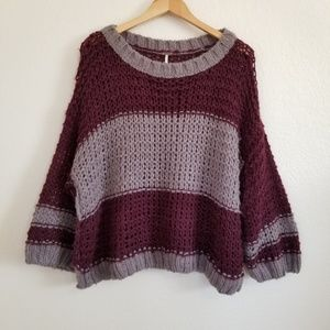 Free People Oversized Wool Alpaca Blend Sweater M